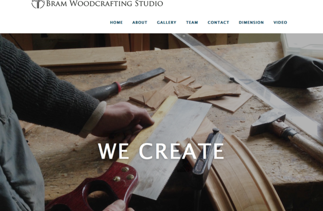 Bram Woodcrafting Website