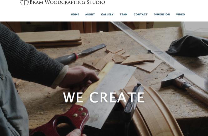 Bram Woodcrafting Website
